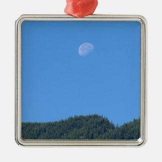 Keremeos Moon Silver-Colored Square Ornament