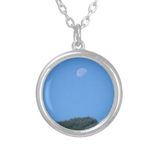 Keremeos Moon Silver Plated Necklace