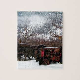 Keremeos Orchard in Winter Jigsaw Puzzle