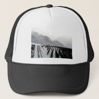 Keremeos orchard in winter on the benches trucker hat