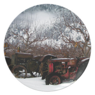 Keremeos Orchard in Winter Plate