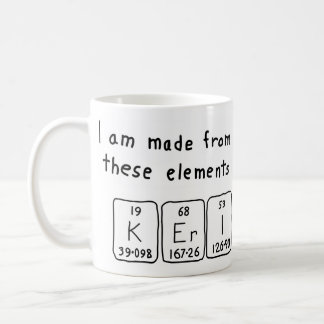 Keri periodic table name mug