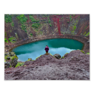 Kerid Crater, Iceland Poster