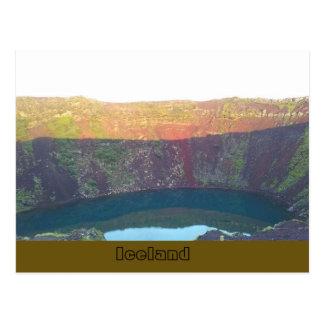 Kerið volcanic crater lake, Grímsnes, Iceland Postcard
