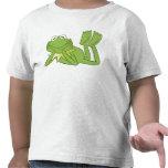 Kermit la grenouille se trouvant vers le bas Disne T-shirts