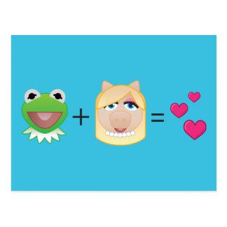 Kermit+Miss Piggy=Love Postcard