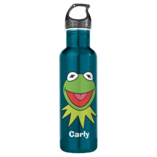 Kermit the Frog Cartoon Head 710 Ml Water Bottle
