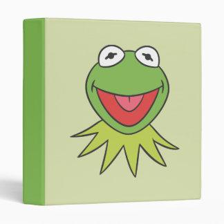 Kermit the Frog Cartoon Head Vinyl Binder