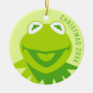 Kermit the Frog Smiling Ceramic Ornament