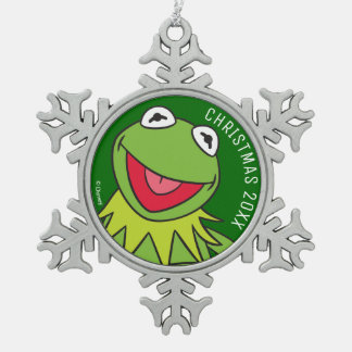 Kermit the Frog Snowflake Pewter Christmas Ornament