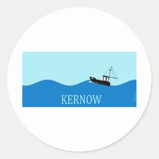 Kernow fishing boat round sticker