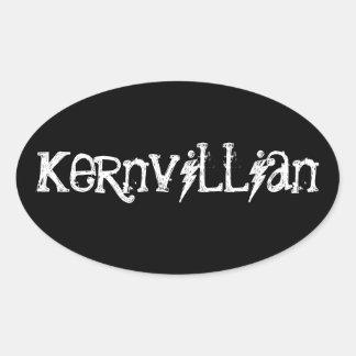 Kernvillian Oval Sticker