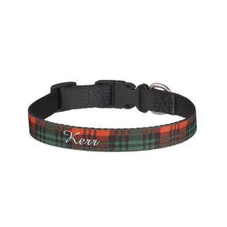 Kerr clan Plaid Scottish tartan Pet Collar