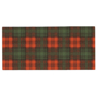 Kerr clan Plaid Scottish tartan Wood USB 3.0 Flash Drive