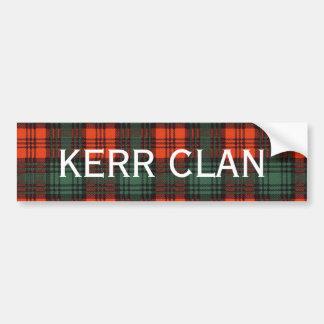Kerr Scottish Tartan Bumper Sticker