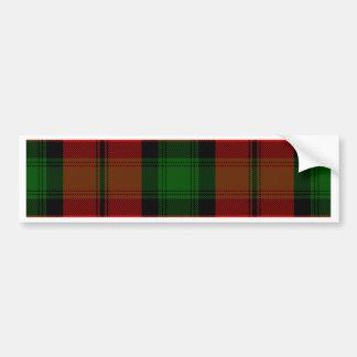 Kerr Tartan Bumper Sticker