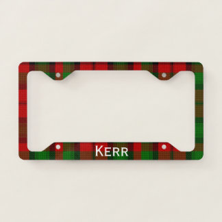 Kerr Tartan Plaid License Plate Frame