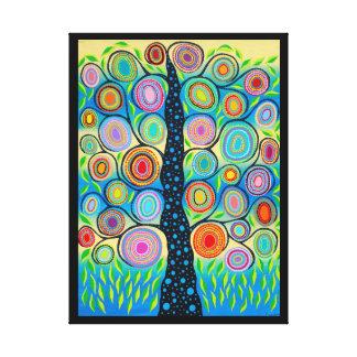 Kerri Ambrosino Mexican Folk Art Tree of Life Canvas Print