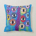 Kerri Ambrosino Pillow Art Evil Eye Tree of Life