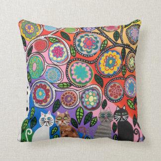 Kerri Ambrosino Pillow Art Tree of Life Cats