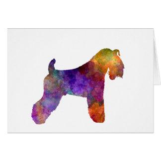 kerry Blue Terrier 01 in watercolor Card