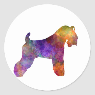 kerry Blue Terrier 01 in watercolor Classic Round Sticker