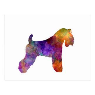 kerry Blue Terrier 01 in watercolor Postcard
