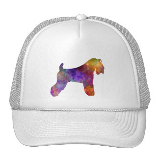 kerry Blue Terrier 01 in watercolor Trucker Hat
