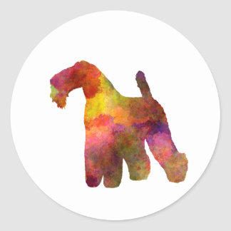 kerry Blue Terrier 02 in watercolor Classic Round Sticker