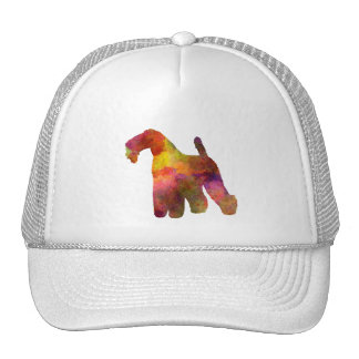 kerry Blue Terrier 02 in watercolor Trucker Hat