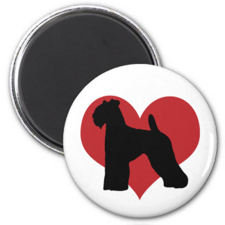 Kerry Blue Terrier 2 Inch Round Magnet