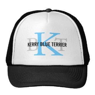 Kerry Blue Terrier Breed Monogram Trucker Hats
