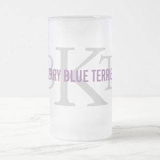 Kerry Blue Terrier Breed Monogram Coffee Mugs