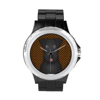 Kerry Blue Terrier Cartoon Paws Wristwatch