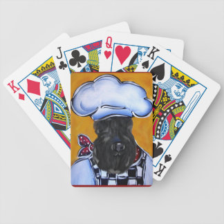 Kerry Blue Terrier Chef Bicycle Playing Cards