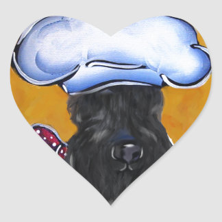 Kerry Blue Terrier Chef Heart Sticker