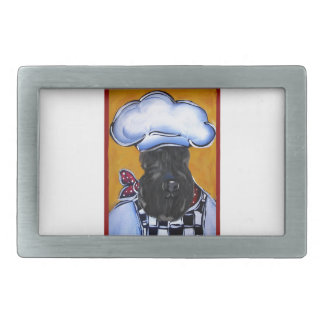 Kerry Blue Terrier Chef Rectangular Belt Buckle