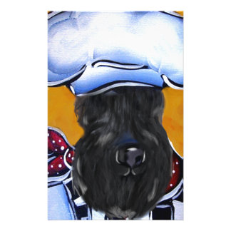 Kerry Blue Terrier Chef Stationery