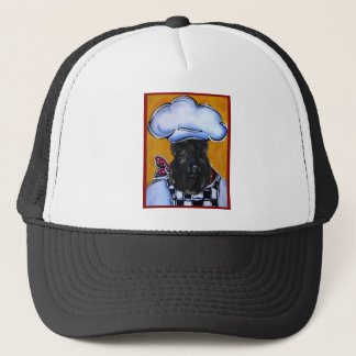 Kerry Blue Terrier Chef Trucker Hat