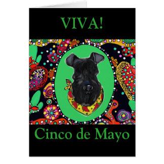 Kerry Blue Terrier Cinco de Mayo Card