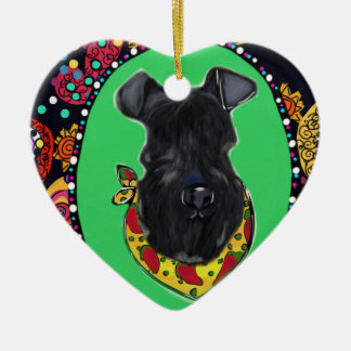 Kerry Blue Terrier Cinco de Mayo Ceramic Ornament