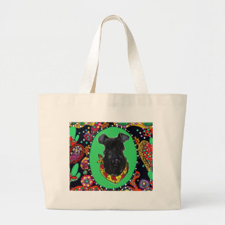 Kerry Blue Terrier Cinco de Mayo Large Tote Bag