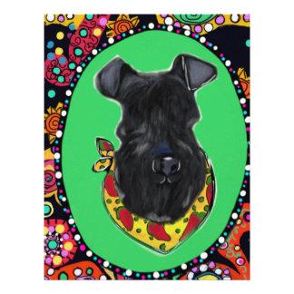 Kerry Blue Terrier Cinco de Mayo Letterhead