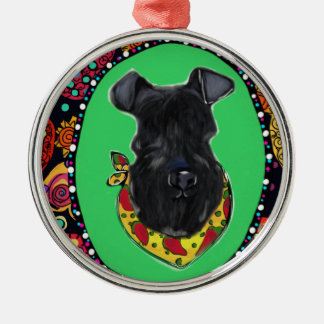 Kerry Blue Terrier Cinco de Mayo Metal Ornament