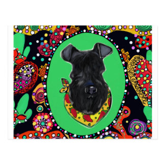 Kerry Blue Terrier Cinco de Mayo Postcard