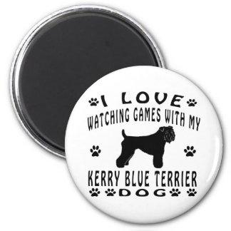 Kerry Blue Terrier designs 2 Inch Round Magnet