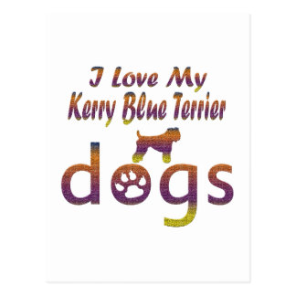 Kerry Blue Terrier designs Postcard