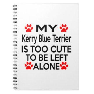 Kerry Blue Terrier Designs Spiral Notebook