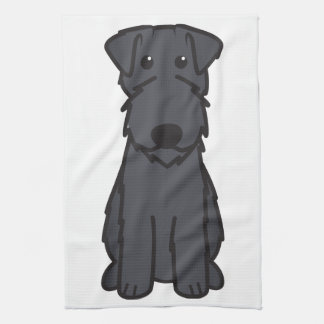 Kerry Blue Terrier Dog Cartoon Hand Towel