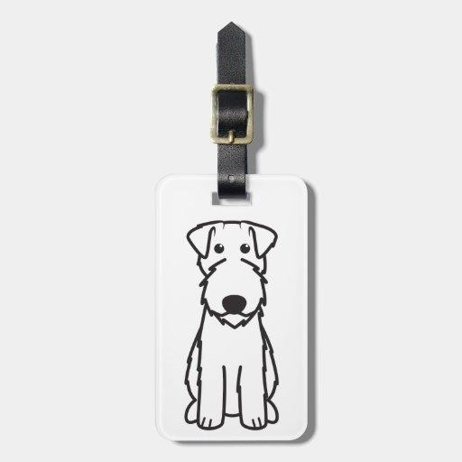 Kerry Blue Terrier Dog Cartoon Luggage Tag